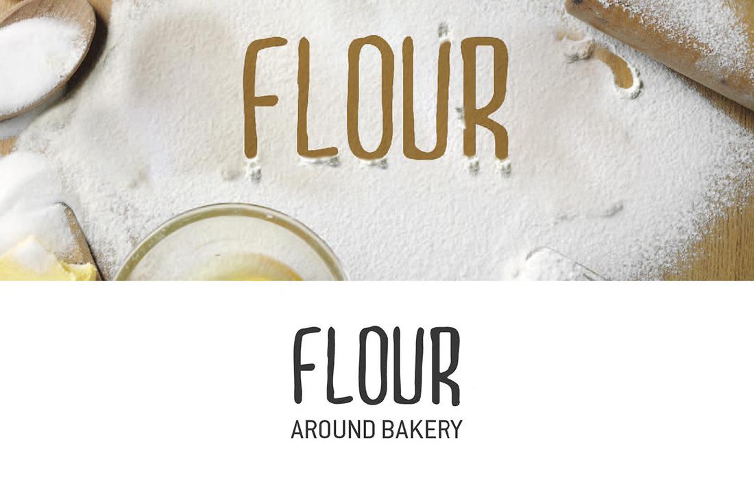 flour-logo roma inciso legno
